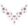 Motif Collar Hot-Fix V-shape 24x18cm Purple